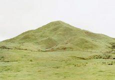 Large green hill near Lake Taupo, New Zealand