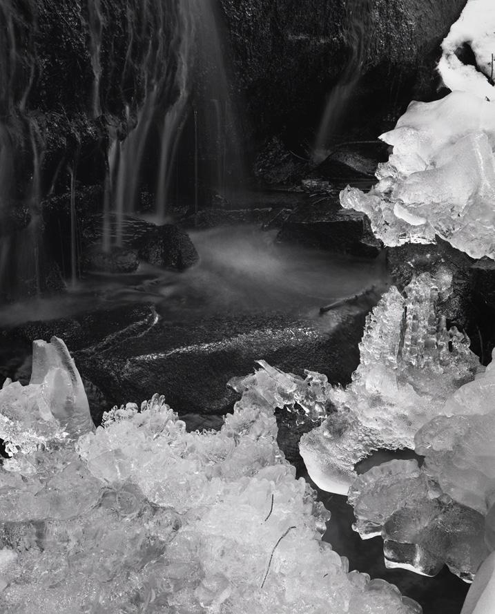 18. Ice Stream, silver gelatin print, 2013, 21 1:2 x 17 1:4 inches