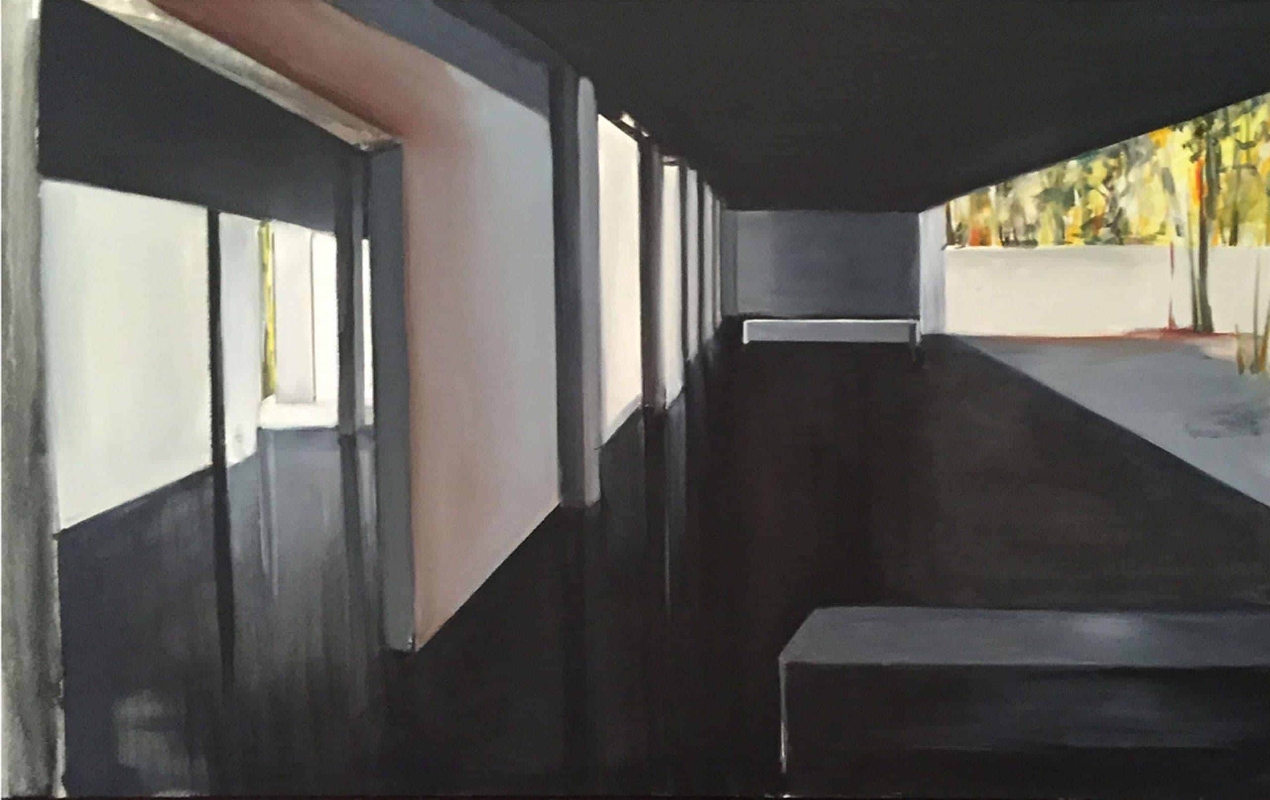 Pavillion 2016 oil on canvas 38×72