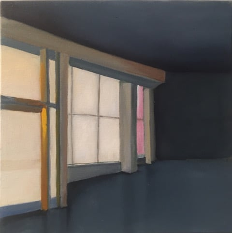 Pink Window 2019 oil on canvas 12×12