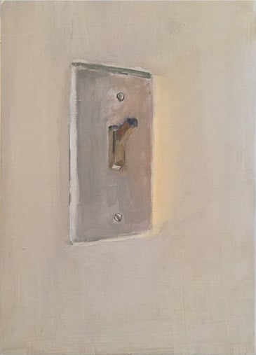 pale switch 2019 oil on canvas 7×5